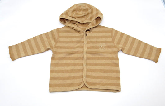 [Baby Piper] Long Sleeve Jacket Top with Hoody 100% Organic Cotton Dye-Free (1104)