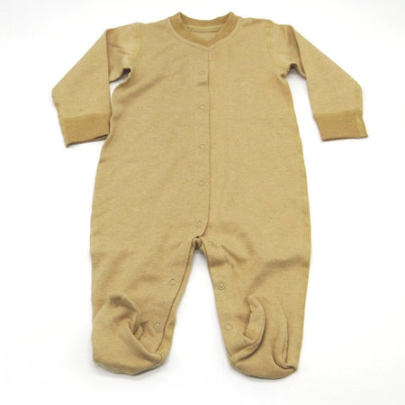 [Baby Piper] Long Sleeve Romper w Socks 100% Organic Cotton Dye-Free (1107)