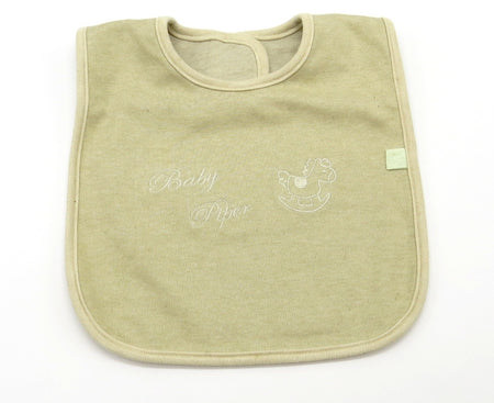 [Baby Piper] Bib 100% Organic Cotton Dye-Free Washable Reusable (1116) - Comes in 2 colors
