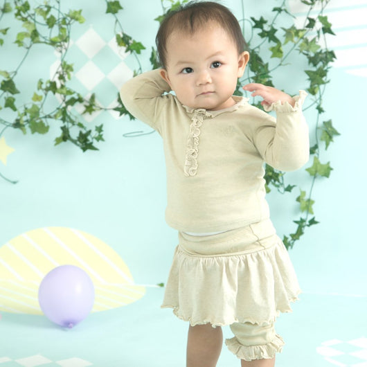 [Baby Piper] Pants Skirt 100% Organic Cotton Dye-Free (1129)