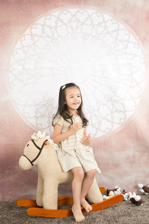 [Baby Piper] Round Neck Short Sleeve Dress 100% Organic Cotton Dye-Free (1132)