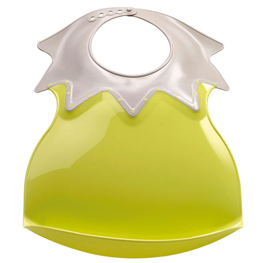 [Thermobaby] Arlequin Soft Plastic Bib with Food Catch Tray, Made in France