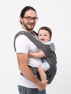 2019 New Edition Hugpapa Dial-Fit 3-In-1 Hip Seat Baby Carrier (Dark Grey)