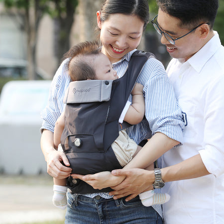 [Hugpapa] Smart Dial-Fit BOA Technology 3-In-1 Removable Hip Seat Baby Carrier with 1-year Warranty - Charcoal (Available in 5 Colors)