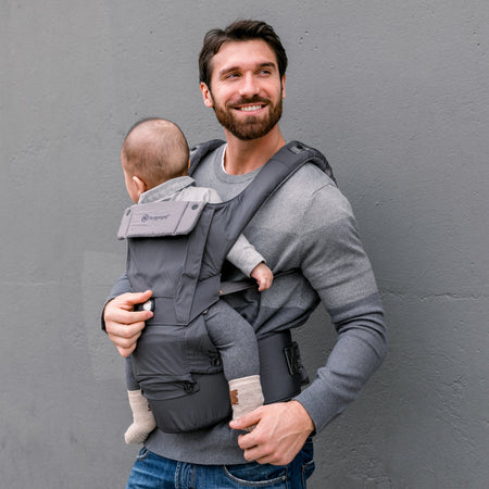 [Hugpapa] Dial-Fit BOA Technology 3-In-1 Hip Seat Baby Carrier with 1-year Warranty - Dark Grey