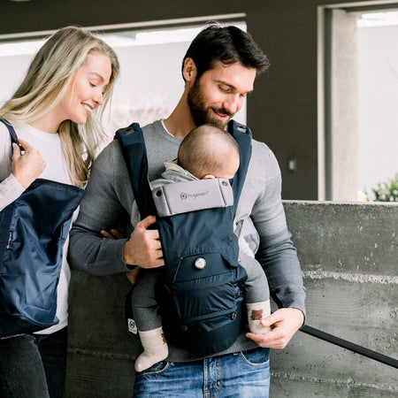 [Hugpapa] Dial-Fit BOA Technology 3-In-1 Hip Seat Baby Carrier with 1-year Warranty - Navy Blue