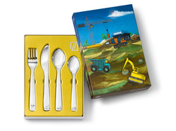 Zilverstad Children's Cutlery 4-pcs, Construction Vehicles