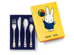 Zilverstad Children's Cutlery 4-pcs, Miffy Plays in Color
