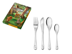 Zilverstad Children's Cutlery 4-pcs, Forest Animals