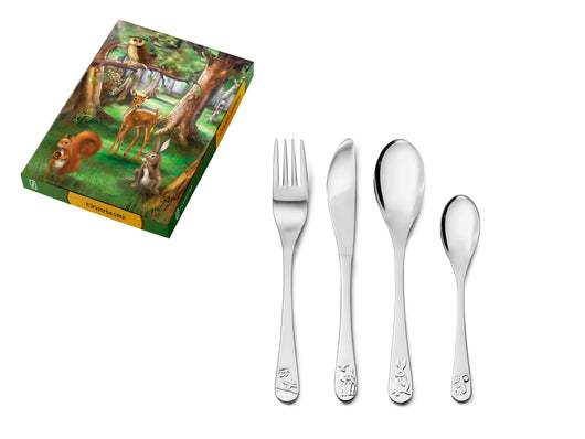 [Zilverstad] Children's Cutlery 4-pcs, Forest Animals