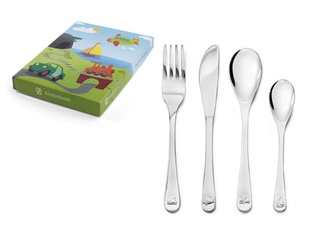 [Zilverstad] Children's Cutlery 4-pcs, Vehicles
