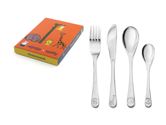 Zilverstad Children's Cutlery 4-pcs, Miffy Zoo