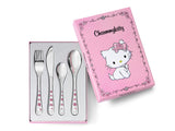 Zilverstad Children's Cutlery 4-pcs, Charmmykitty in Color
