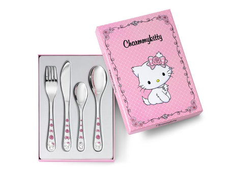 [Zilverstad] Children's Cutlery 4-pcs, Charmmykitty in Color