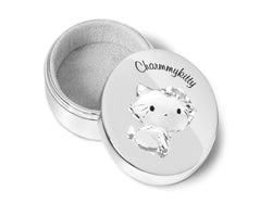 Zilverstad First Tooth & Hair Keepsake Box, Charmmykitty