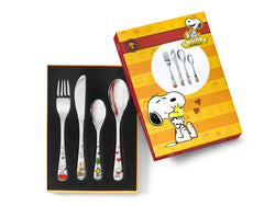 Zilverstad Children's Cutlery 4-pcs, Snoopy in Color