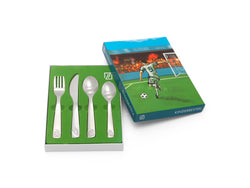 [Zilverstad] Children's Cutlery 4-pcs, Football