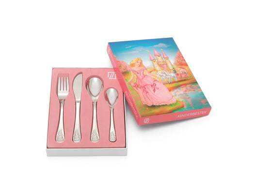 [Zilverstad] Children's Cutlery 4-pcs, Princess