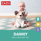 [Zazu] Peek-A-Boo Interactive Soft Toy Dog with Flapping Ears and Sound, Danny the Dog - 0months+