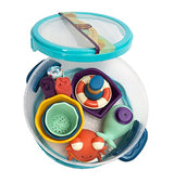 [B.Toys] Wee B. Splashy Bath Play Tub Time Set with Squirts Toys and Wash Cloths BX1387Z - 0months+
