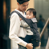 [Hugpapa] Dial-Fit BOA Technology 3-In-1 Hip Seat Baby Carrier with 1-year Warranty - Charcoal