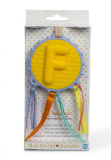 [Ebulobo] Alphabet Initial Name Baby Teething Teether Rattle Shaker - Letter F