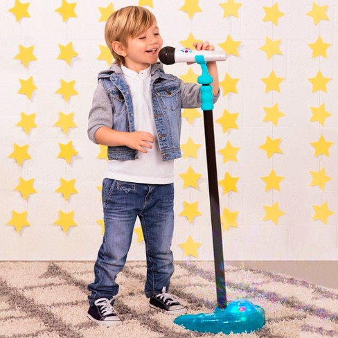 [B.Toys] Mic it Shine Microphone with Light-Up Stand Wireless Bluetooth with Recording BX1535Z - 3years+