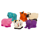 [Battat] Barnyard Farm Bath Buddies Water Squirters 6 pcs set BT2603Z - 10months+