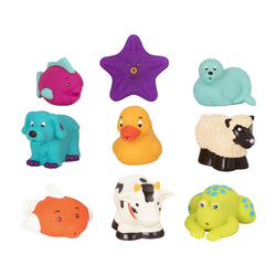 [Battat] Assorted Bath Buddies Water Squirters 9 pcs set BT2527Z - 10months+