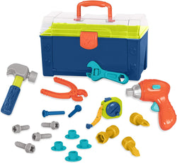 [Battat] Busy Builder Tool Box – Durable Kids Tool Set – Pretend Play Construction Tool Kit for Kids 3 Years+ (20 Pieces)
