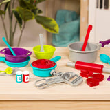 [Battat] Cooking Set – Pretend Play Toy Dishes Set - Plastic Kitchen Toys for Toddlers 3 years + (21-Pcs)