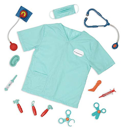 [Battat] – Doctor Kit for Kids – Kids Doctor Play Set with Costume – 11 Medical Tools with Mask & Scrub Top – Toy Set for Pretend Play – Little Doctor's Kit – 3 Years + (BT2693Z)