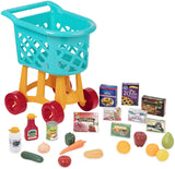 [Battat] Grocery Shopping Cart Toy for Toddlers (23 pieces) Blue - BT2535C1Z