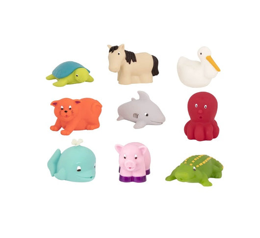 [Battat] Assorted Bath Buddies Water Squirters 9 pcs set BT2528Z - 10months+