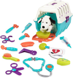 [Battat] Dalmatian Vet Kit Interactive Vet Clinic and Cage Pretend Play for Kids with 15 pieces Accessories BT2538Z - 2years+