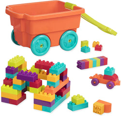 [Battat] LocBloc Wagon Building Toy Blocks for Toddlers 54 pieces BT2539Z - 2years+