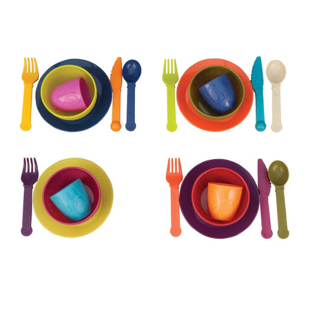 [B.Toys] Let's Dish, 25 Piece Set Dishwasher Safe Cutlery BX1367Z - 2years+