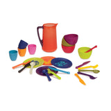 [B.Toys] Let's Dish, 25 Piece Set Dishwasher Safe Cutlery, Suitable for Food & Drinks BX1367Z - 2years+