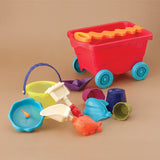 [B.Toys] Award Winning Travel Beach Wavy Wagon with 10 Sand Play Accessories - 18months+