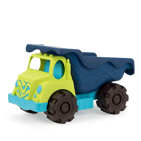 B. toys by Battat Colossal Cruiser – 50cm Large Sand Truck – Beach Toy Dump Truck For Kids 18 M+ (Lime/Navy)