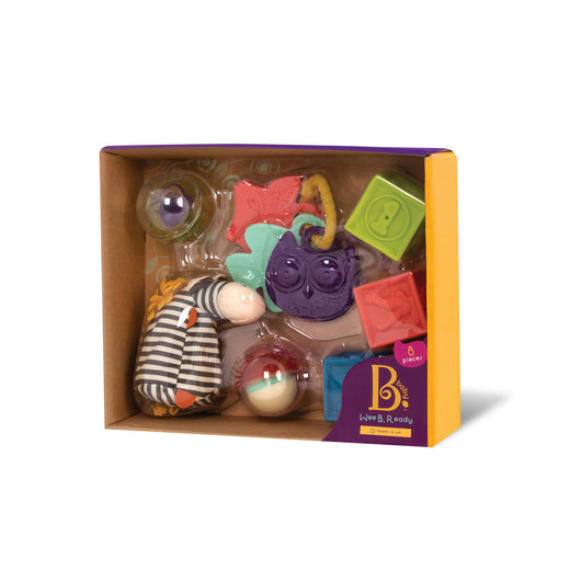 [B.Toys] Wee B. Ready Playtime Set with Soft Blocks and Teething Toys BX1569Z - 0months+