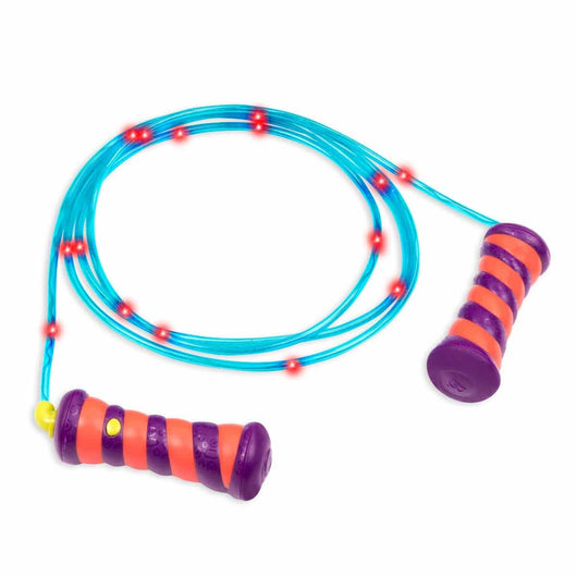 [B.Toys] Skippy Doo Da Light Up Skipping Jump Rope for Kids with Flashing & Changing Colors in 236cm Long BX1636Z - 5years +