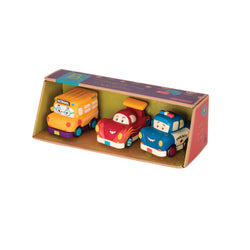 B.Toys Mini Pull-Back Vehicle Set