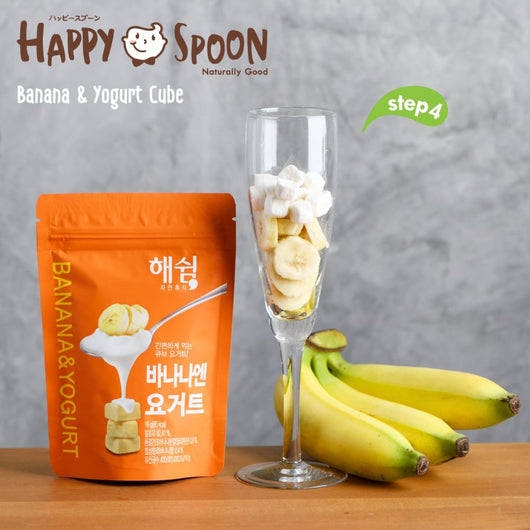 Happy Spoon Freeze-Dried Cube (Banana & Yogurt)