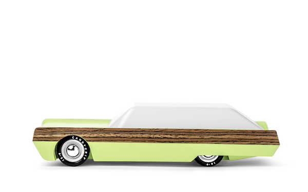 Candylab Toys - Surfin Griffin Wooden Car - Modern Vintage Style - Solid Beech Wood