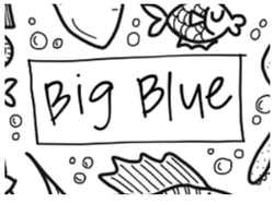 [Drawnby:] Big Blue Washable Silicone Colouring Mat + 14pcs Markers Set