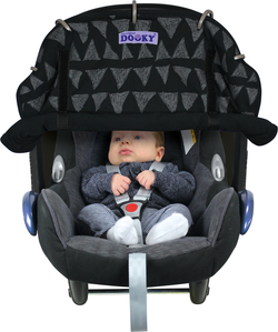 [Dooky] Universal Cover UPF40+ - Suitable for Car Seat, Pram, Stroller (Multi-Award Winning}