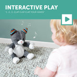 [Zazu] Interactive Soft Toy with Clapping Hands and Sound, Chloe the Cat - 0months+