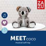 [Zazu] Baby Sleep Soother Soft Toy with 6 Melodies and Cry Sensor, Bibi the Bunny / Coco the Koala - 0months+