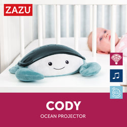 [Zazu] Ocean Projector with 3 Step Sleep Projector Program & Cry Sensor, Award Winner, Cody the Crab - 0months+